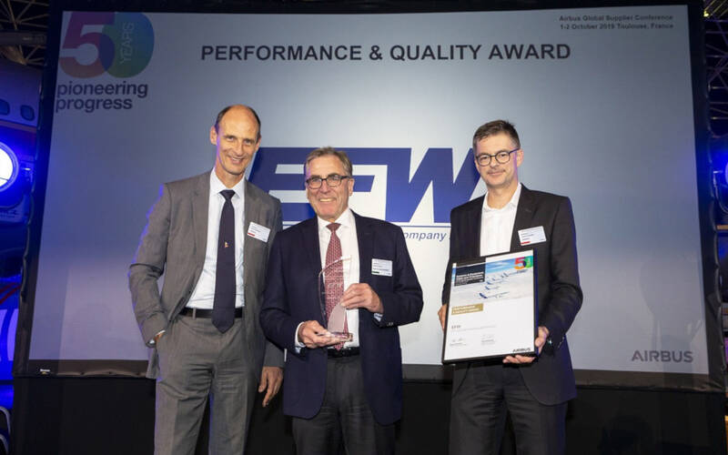 Elbe Flugzeugwerke honored by Airbus as a top-performing supplier