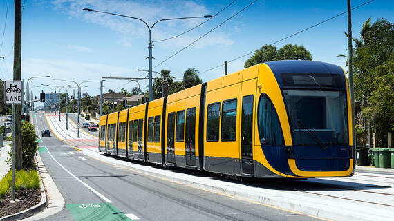 Composite floor panels tramway copyright Bombardier