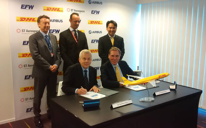 DHL Signs A330-300P2F Conversion Launch Contract with EFW